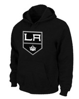 Wholesale Black Kings Hockey Hoodies Best Quality Lowest Price Warm Winter Pullover Sweatshirt Hoodies Hot Sales Hooded Sportswear Mens Hoodies