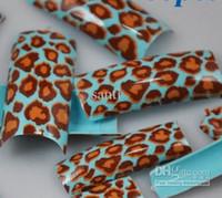 Half Coloured Nail Tips false nail Cute Animal false nail AIRBRUSH Pre-Design artificial nails Acrylic FRENCH NAIL ART TIPS Half