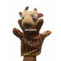 Wholesale Giraffe Puppets Plush Hand Puppets Stuffed Doll Glove puppet Plush Marionette Toys Talking Props Chirstmas Day Gifts