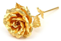 Lover's gift, girls,womens' gift Gold Rose with gift box,Dipped in 24K Gold, bloom 25*8cm free shipping