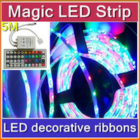 Wholesale 10pcs DHL m waterproof LED Strip RGB IP65 led stripe Light V LEDs M indoor lighting tiras led for christmas decoration JA02