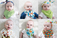 bandana uses - Baby Reversible Bandana Dribble Scarf Bibs Feedings two layers Baby Bibs Triangled Double Side Use Snap fastener