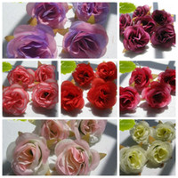 Wholesale Hot Artificial Flowers Color Roses Flower Head Wedding Decorating Flowers cm b400