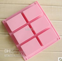 FDA silicone soap molds - 8 cm square Silicone Baking Mold Cake Pan Molds Handmade Biscuit Mold Soap mold mould