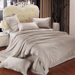 king size Luxury bedding set queen duvet cover quilt doona double bed in a bag sheet linen bedsheet bedspread 4pcs khaki tencel 4pcs bedclot