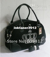 Wholesale Black Velvet Crystal Crown Dog Travel Bag Pet Carrier Top Quality