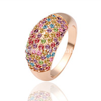Band Rings Celtic Unisex Colorful Crystal Charm Ring 18K gold-plated special sales fashion jewelry inlaid Swarovski Elements Crystal Jewelry Sets Classic wild