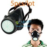 April Fool's Day Work TK0856# 5PCS LOT Single Cartridge Gas Mask protection Filter Chemical Gas Respirator Face Mask Drop Shipping TK0856