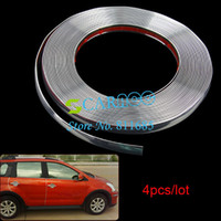 Stickers 9723# 0.8 cm Wholesale 8MM (0.8cm) x 15M 4pcs lot DIY Car Styling Mouldings Interior Decoration Strip line 9723