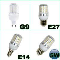 Wholesale E27 G9 E14 W SMD LED Corn Light Bulb Warm Cool White Lighting AC85 V Degree Corn Bulbs LM LED Lamp