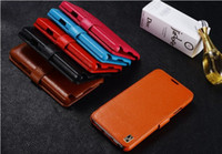 For Samsung Leather Yes (Factory Outlet) Cover case for samsung N9000 Galaxy note3 mtk6589t 100% genuine real leather Mobile Phone Bags & Cases