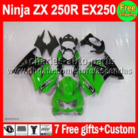 7gifts+ HOT+ green black Fairing For Kawasaki Ninja ZX 250R 08...