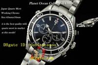 Luxury Men's Quartz-Battery Luxury Mens Chronograph Watch AAA Top quality Planet Ocean Watches Co-Axial Professional Black Japan Quartz Movement Dive Sport Watch