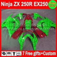 Comression Mold For Kawasaki Ninja ZX250R 7gifts+HOT For green 08-12 ZX 250R Kawasaki 08 09 10 11 12 17#234 Ninja EX250 ZX250R Spider-Man EX 250 2008 2009 2010 2011 2012 Fairing
