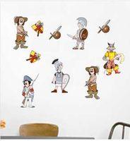 Wholesale DIY portfolio stickers cartoon stickers town guards stickers boy love DIY stickers armed soldiers wall stickers L