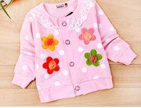 Wholesale Children children cardigan coat girls long sleeved cardigan coat