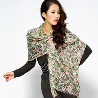 Wholesale Winter and autumn new printing style silk amp cashmere large size scarf SWC224