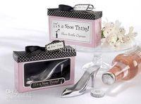 Wedding beer shoes - HOT gift High Heeled Shoes Bottle Opener Wine Beer wedding Favors Wedding Party Birthday Gifts