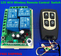 Wholesale 12V CH Receiver Transmitter Wireless Remote Control Power Switch System Working way is adjustable M MHZ MHZ