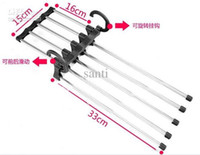 Wholesale Rack in one plastic Magic trousers hanger Rack multifunction pants closet hanger