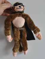 Wholesale Novelty Toy slingshot monkey screaming flying monkey Plush Toys inch with Cape amp Mask
