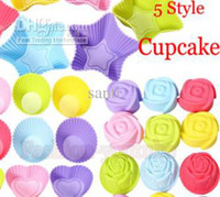Wholesale New pudding cup Silicone Cake Muffin Chocolate Cupcake Case Tin Liner Baking Cup Mold Mould Rose