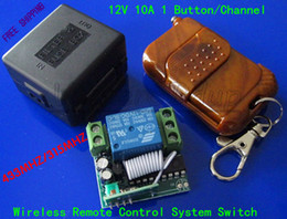 Wholesale 12V A Channel Electric Control Lock Signal Channel Fixed Encoding Wireless Remote Control System Switch RF MHZ MHZ Auto Gate Doo