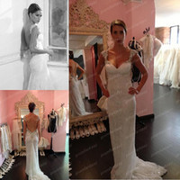 2014 Free Shipping Royal Style Inbal Dror Lace Wedding Dress...
