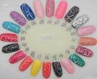 Wholesale Brand new arrival colors shatter crack crackle cracked style nail polish