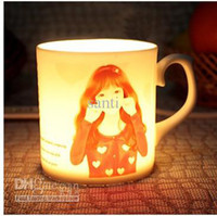 Wholesale Switch Sexy girl Cup Magical Chameleon Coffee Mug Switch Temperature Sensing Novelty Gift