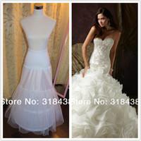 Wholesale Mermaid Wedding Dress Petticoat Bridal Petticoat Hoops with layer