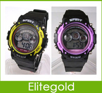 Wholesale Digital Sports Kids Alarm Watch Child Boys Sports Led light Watches Chronograph amp Date Function