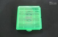 Wholesale AA AAA Battery batteries cases aa aaa Hard Plastic Case Holder Storage Box Portable