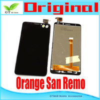 Cheap 1pcs lot Original new LCD Display +digitizer touch Screen Assemblely for TCL Alcatel Orange San Remo lcd Assemblely
