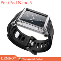 Wholesale Luna Tik Rubber Wrist Watch Band Strap Fashion Aluminium Alloy Cover Case for iPod Nano G