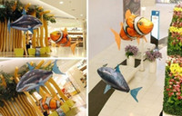 Big Kids mix color Plastic Fashion Hot Air Swimmers Shark Remote Control Remote Clownfish Flying Fish Ugly Fish Aerial Shark