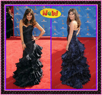 Lea Michele Tiered Ruffle Mermaid Wedding Evening Dresses 20...