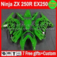 7gifts+ HOT black flames For Kawasaki Ninja EX250 08- 12 EX 25...