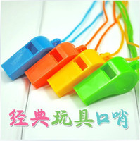 Wholesale Dynamic Atmosphere Whistles Referee Special Kids Toys Cheerleading Accs Plastic Whistle With Lanyard