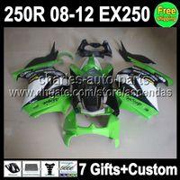 7gifts For Kawasaki Ninja green white 250R EX250 EX 250 08 0...