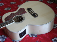 Wholesale Acoustic Guitar New arrival Custom Acoustic Electric Guitar Natural with Fishman
