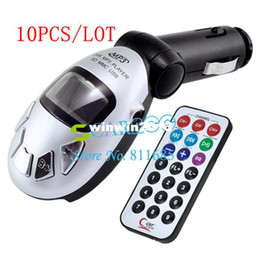 10pcs lot Wireless Car MP3 Player FM Transmitter USB SD MMC Slot wholesale 1267