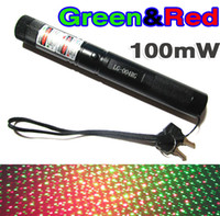 Green+Red No No New 100mW High Power flashlight Type Green Laser Pen Red Laser Pen 2 in 1 Laser Pointer pen STAR Galaxy Laser Pen 301 303 mini stage lamp