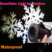 Red auto plastic materials - Christmas gift Christmas Waterproof Snowflake Xmas stage light for outdoor plastic material can move