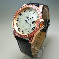 Wholesale European and American trade diamond luxury high end designer ladies quartz watches rose gold multicolor OL belt female form