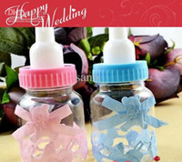 Christmas baby bottle candy - Wedding candy box wedding favors Baby feeding bottle baby shower chocolate box party favor