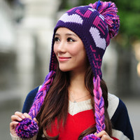 Wholesale 2012 hat female winter millinery ear protector love hats cap skiing hat
