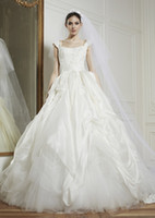Ball Gown Reference Images Portrait 2014 Zuhair Murad Bride Dresses Portrait Beaded Bodice Sequins Ruffle Pick Up Skirt Ball Gown Wedding Dresses White Taffeta Tulle ZU1419