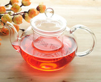 Wholesale 600ml Glass Coffee Tea Pot Heat resistant Glass pot Good Gift A2B07