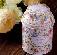 Wholesale Tin box Tea box Coffee Tin Storage box Iron case Storage container Vintage style flower series Tea box